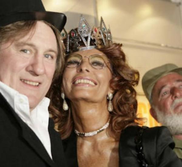 Sophia Loren, Gerard Depardieu y Angela Carrasco / El Carnaval de Tenerife
