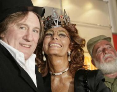 Sophia Loren, Gerard Depardieu and Angela Carrasco / Tenerife Carnaval
