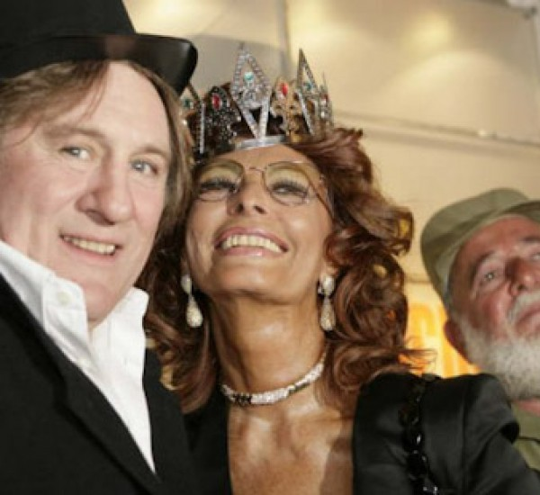 Sophia Loren, Gerard Depardieu and Angela Carrasco / Tenerife Carnaval